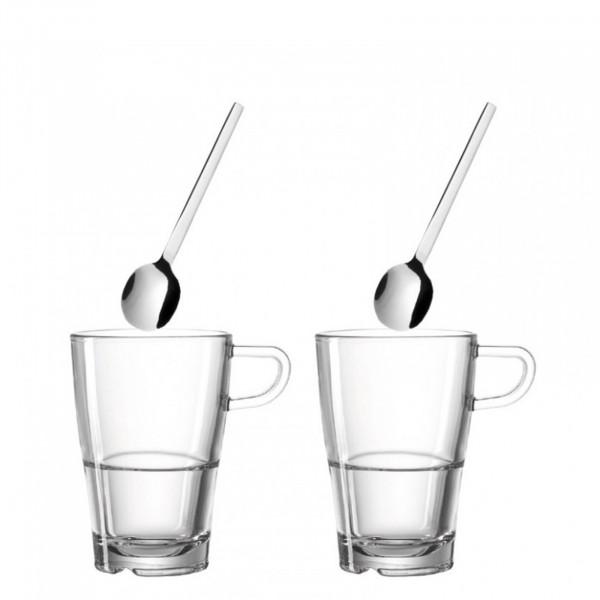Leonardo Senso Set 4tlg. Latte Macchiato